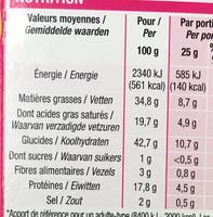 Crackers goût quiche - Voedingswaarden - fr