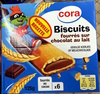 Biscuits fourrés sur chocolat au lait - Product