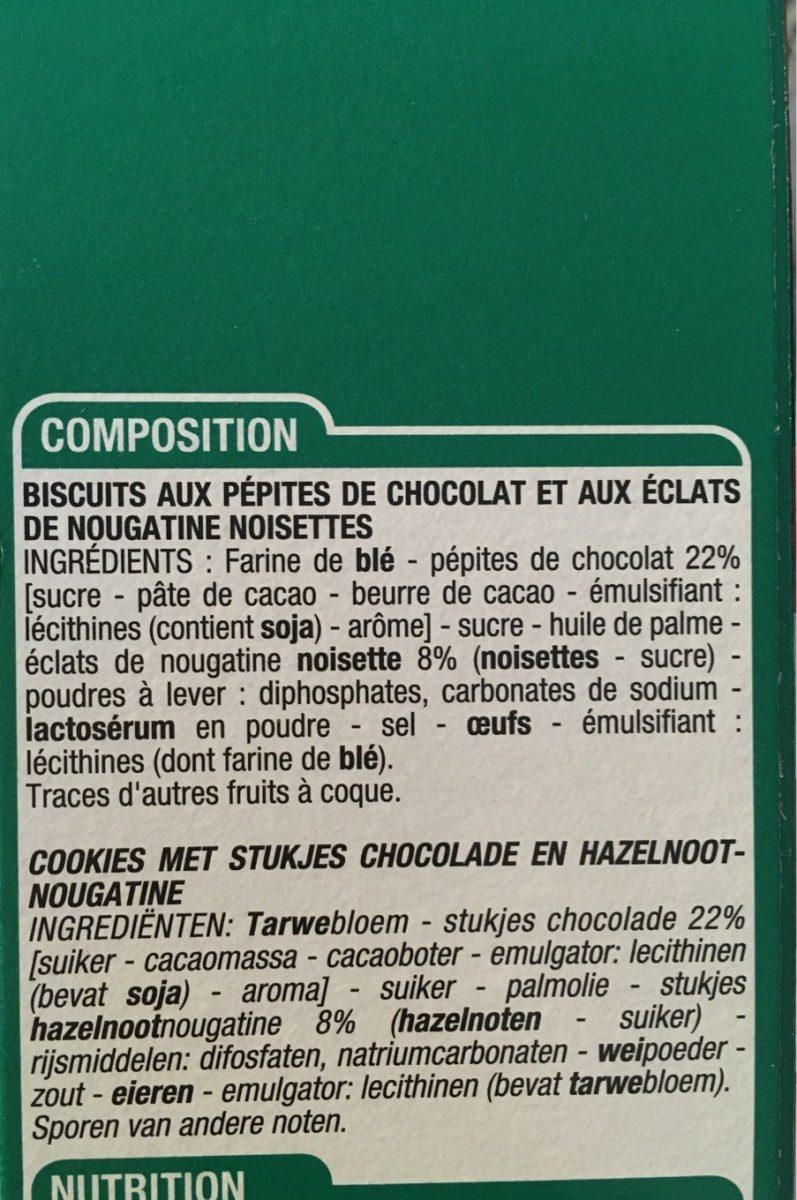 Cookies pepites de chocolat nougatine - Ingrédients - fr