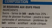 Boudoirs - Ingredients - fr