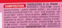 Tartelettes fraise - Ingrédients - fr