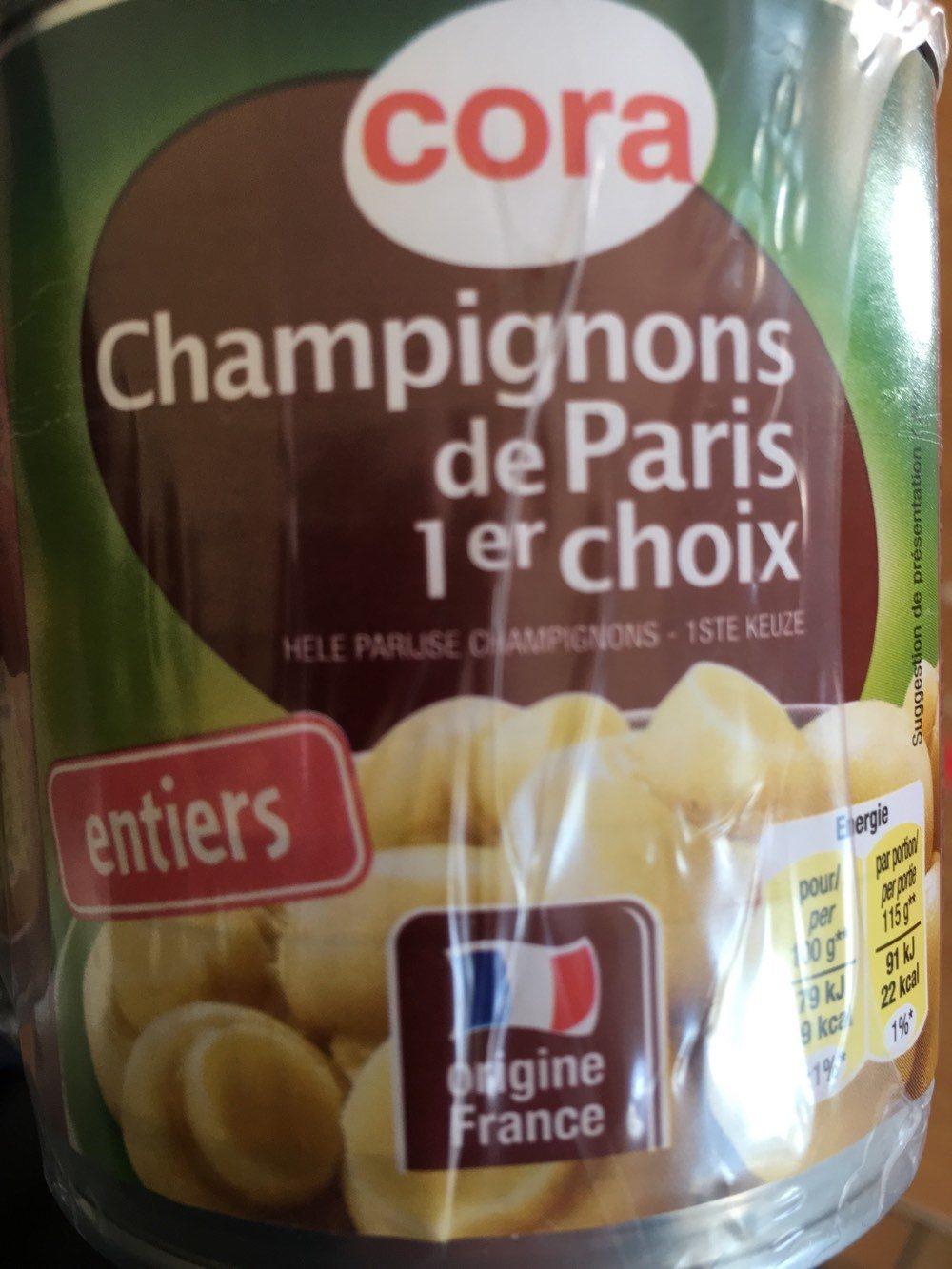 Champignons de Paris 1er choix - Product