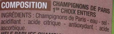 Champignons de Paris 1er choix - Ingrediënten