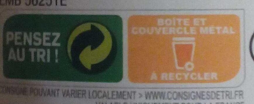Flageolets verts - Instruction de recyclage et/ou informations d'emballage - fr