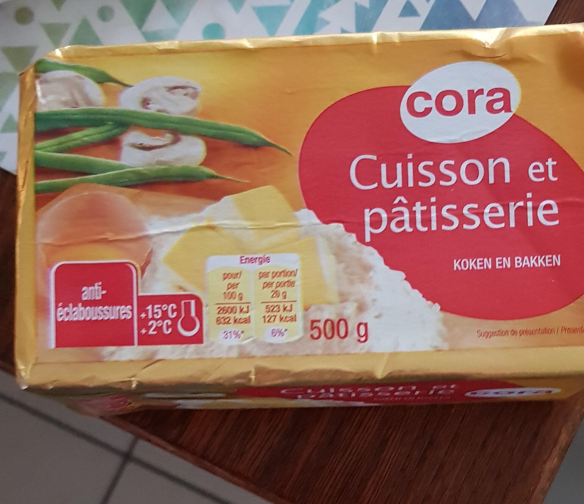 Margarine Spéciale Cuisson, 500 Grammes, Marque Cora - Produit