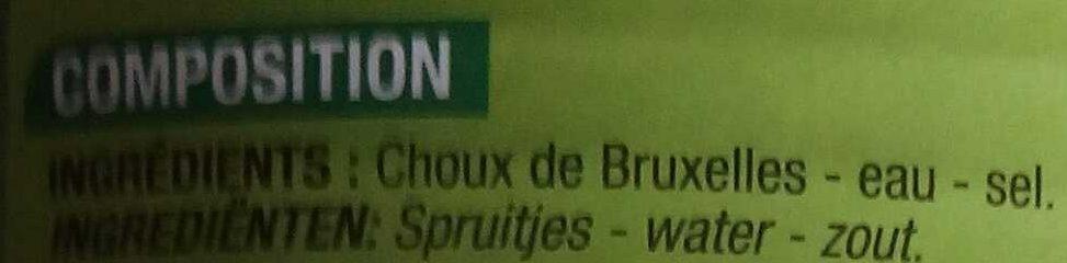 Choux de Bruxelles - Ingrediënten - fr
