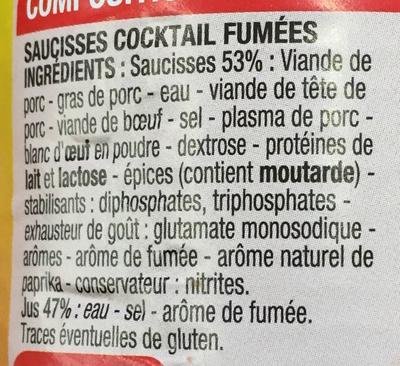 Saucisses cocktail - Ingrediënten - fr