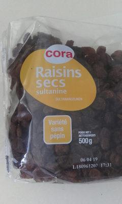 Raisins Secs Sultanines, 500 Grammes, Marque Cora - Product
