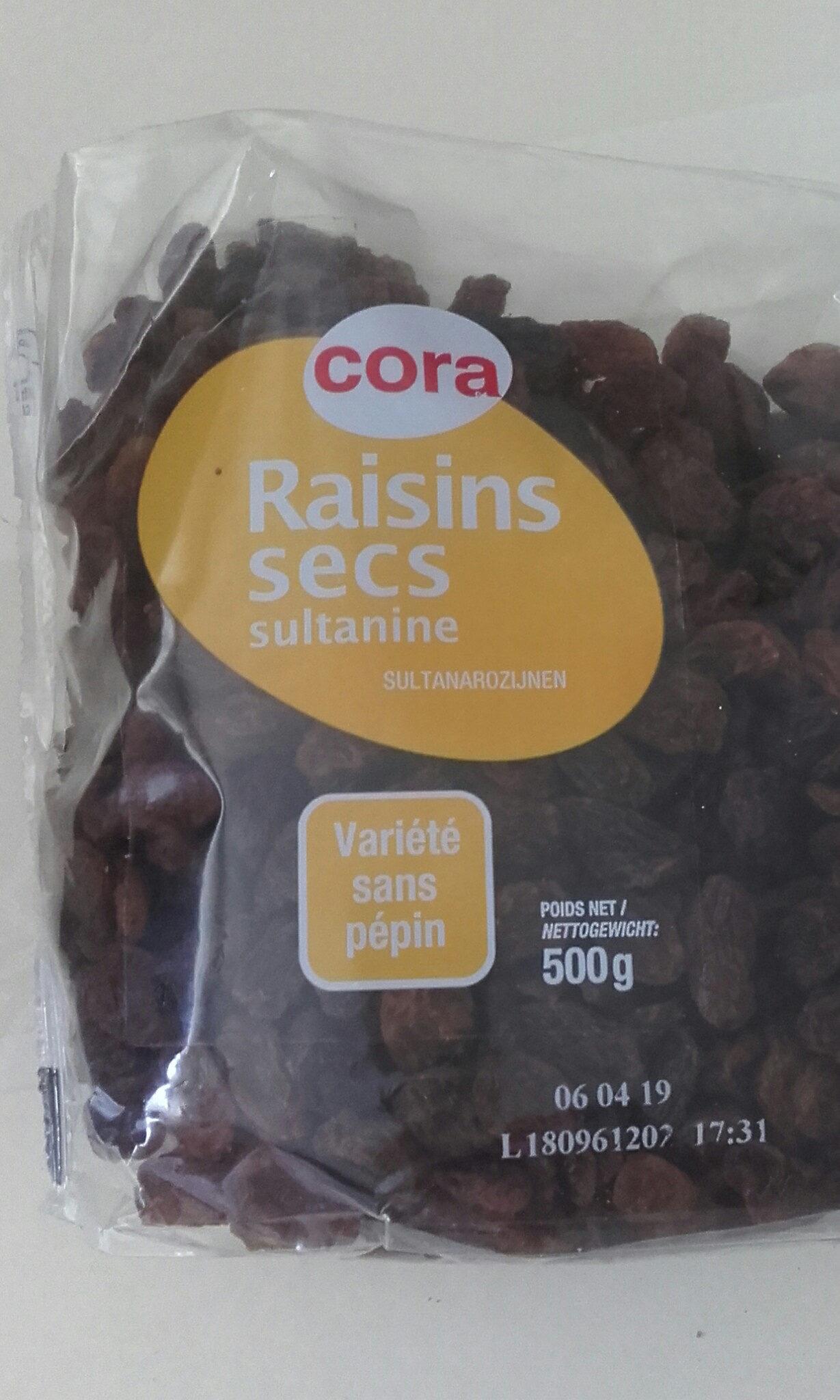 Raisins Secs Sultanines, 500 Grammes, Marque Cora - Product - fr