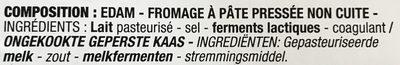 Edam En Tranches 200 Grammes - Ingrediënten - fr