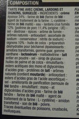 Tarte Flambée Alsacienne, 2 Fois 250 Grammes, Marque Cora - Ingredients