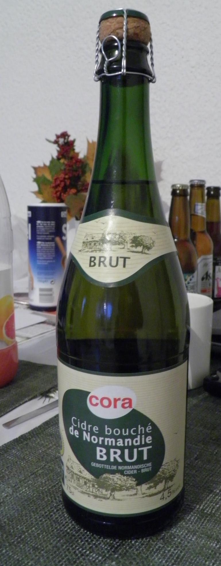 Cidre bouché de Normandie Brut Cora - Produit