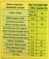 Huile Vierge De Tournesol - Derniers Stocks - Nutrition facts - fr