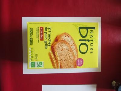 12 tranches de pain grillé complet - 2