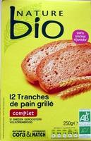 12 tranches de pain grillé complet - Product - fr