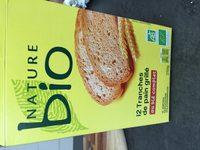 12 tranches de pain grillé complet - Ingredients - fr