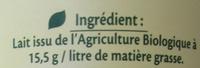 Lait demi-écrémé bio - Ingredienti - fr