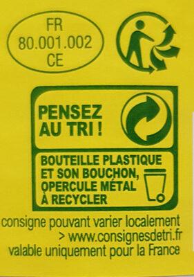 Lait demi-écrémé bio - Istruzioni per il riciclaggio e/o informazioni sull'imballaggio - fr