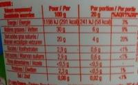 Crème fraîche Épaisse (30 % MG) - Voedingswaarden - fr