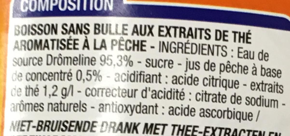 Thé glacé Pêche - Ingrédients - fr