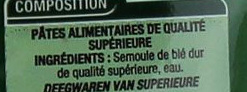 Penne Qualité Supérieure - Ingrediënten - fr