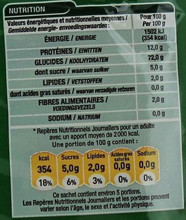 Penne Qualité Supérieure - Voedingswaarden - fr