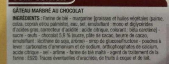 Marbré au chocolat - Ingrediënten