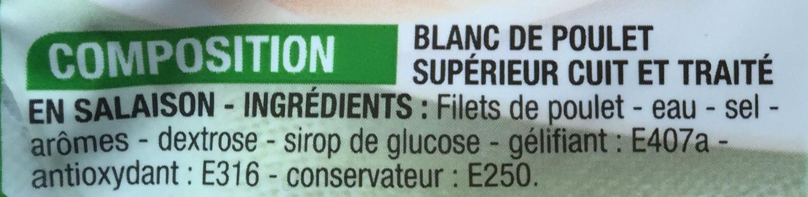 Jambon de poulet 60g - Ingrédients