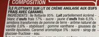 Île flottante sur crème anglaise - Ingredients