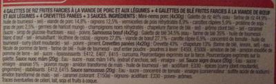Assortiment Asiatique - Ingredients - fr