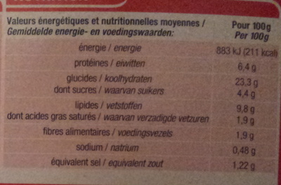 Assortiment Asiatique - Informations nutritionnelles - fr