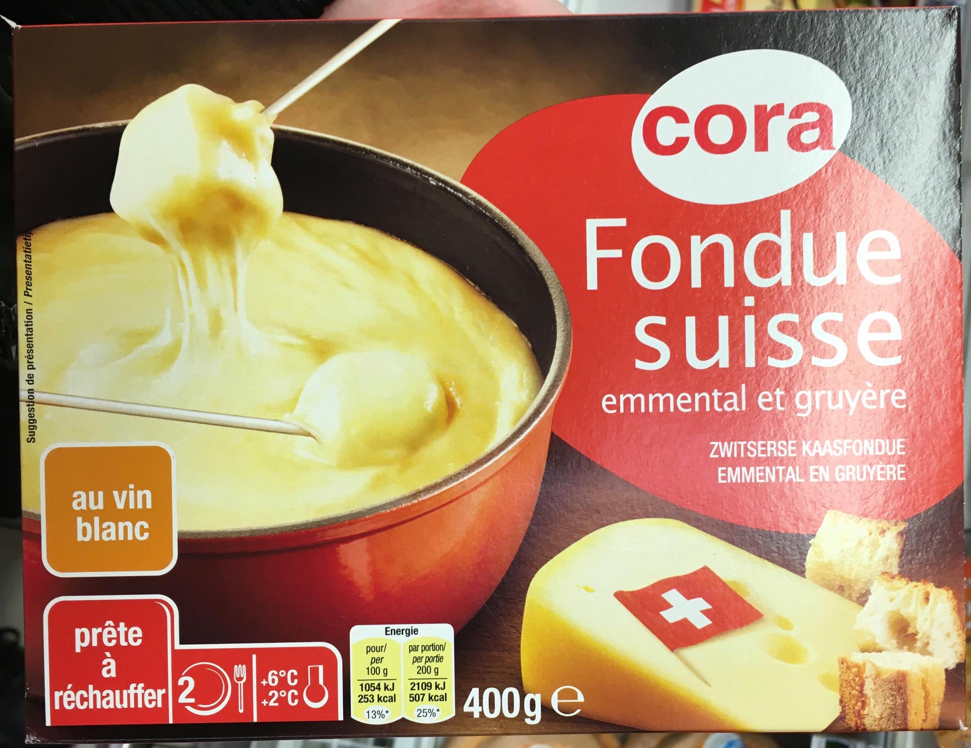fondue suisse emmental et gruy re au vin blanc 16 5 mg cora 400 g. Black Bedroom Furniture Sets. Home Design Ideas