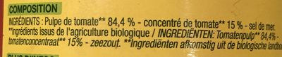 Pulpe de tomates - Ingrediënten - fr