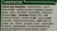 Tuiles aux amandes (x 20) - Ingredients