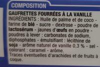 Gaufrette Parfum vanille - Ingredients - fr