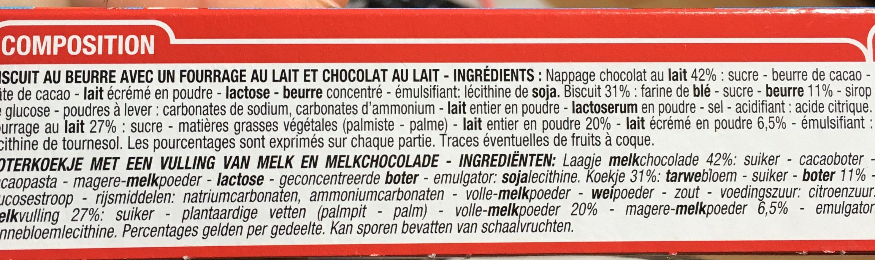 Choco & Lait - Ingredients
