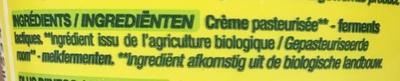 Crème fraîche épaisse - Ingrediënten - fr