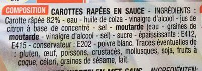 Carottes Râpées - Ingredients