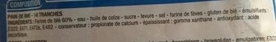 Spécial sandwich nature (14 tranches) - Ingredienti - fr