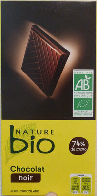 Chocolat noir nature bio - Product - fr