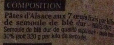 Petits Nids - Ingrediënten - fr