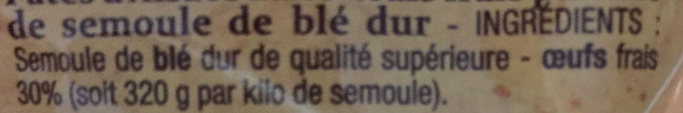 Spaetzle - Ingrédients - fr