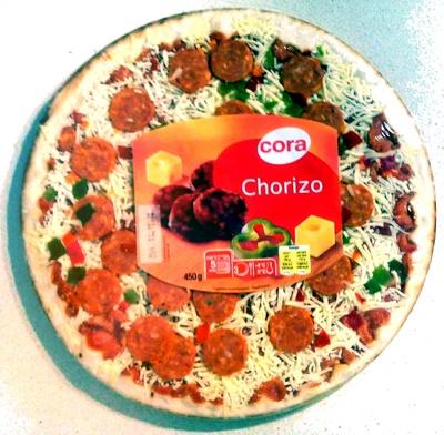Pizza garnie de chorizo précuit et de poivrons - Product - fr