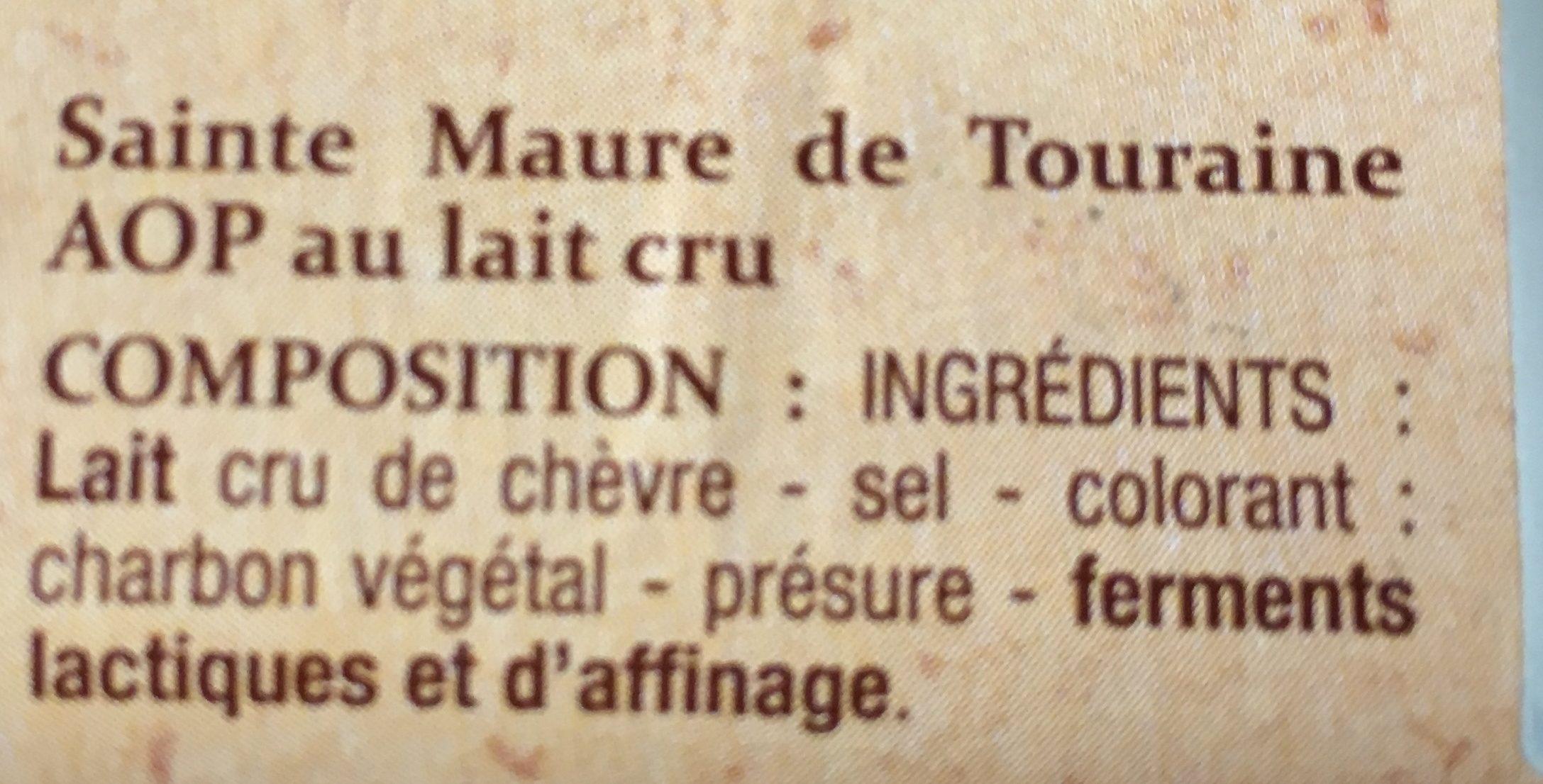 Sainte Maure de Touraine (22% MG) - Ingrédients - fr