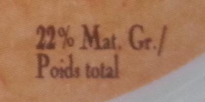 Sainte Maure de Touraine (22% MG) - Informations nutritionnelles - fr