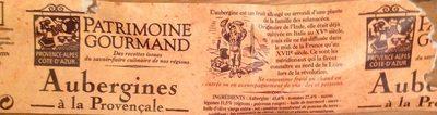 Aubergines Provençales - Product
