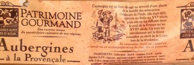 Aubergines Provençales - Ingrediënten