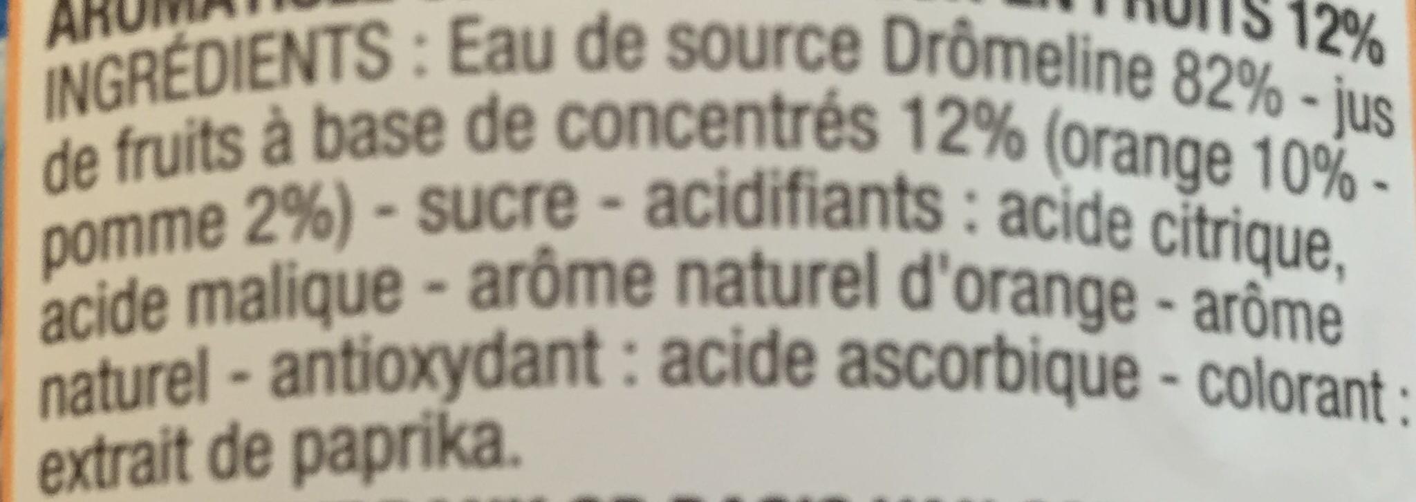 Orange sans bulle - Ingrédients - fr