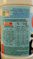 Lait Entier - Nutrition facts - fr