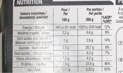 Bœuf Bourguignon Pommes De Terre, 300 Grammes, Marque Cora - Voedingswaarden - fr